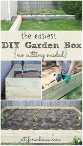 Diy Garden The Easiest Diy Garden Box No Cutting Needed The Inspire Me