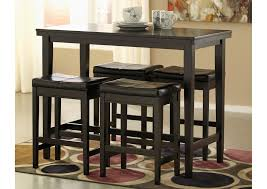 counter height rectangular table. Kimonte Rectangular Counter Height Table W/4 Dark Brown Barstools,Signature Design By Ashley T