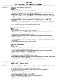 Mechanical Assembly Resume Samples Velvet Jobs