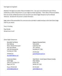 eagle scout letter of recommendation form 9 sample eagle scout recommendation letter templates