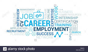 Job Employment And Career Tag Cloud With Words Icons And Concepts