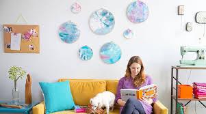 diy room décor painted fabric wall art