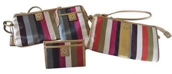 Coach Legacy Julia Legacy Stripe Set Wallet Wristlet in Multi ...