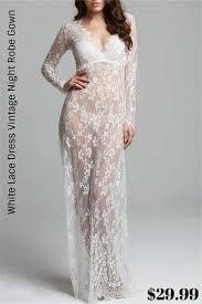 <b>White Lace</b> Dress Vintage Night Robe Gown $29.99 Women's ...