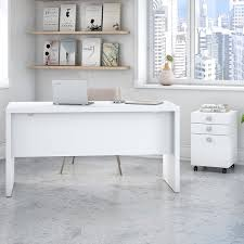 white office credenza. kathy ireland office by bush echo credenza 2 piece desk suite with mobile file cabinet wayfair white i