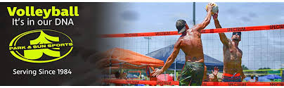 Park Sun Sports Spectrum Classic Portable Professional Outdoor Volleyball Net System