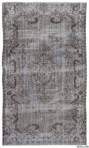 grey over dyed turkish vintage rug 5 5 x 8