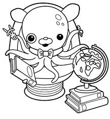 Small Picture Awesome Professor Inkling Octopus from The Octonauts Coloring Page