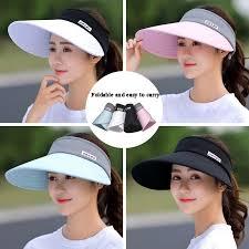 <b>MAERSHEI women summer</b> Sun Hats pearl packable sun visor hat ...