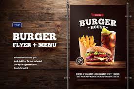Menu Flyer Template Burger Flyer Menu Flyer Templates Creative Market 18