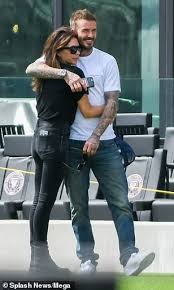 News about victoria beckham on elle. David And Victoria Beckham Share A Kiss On A Family Day Out To New Home Of His Miami Football Team Daily Mail Online