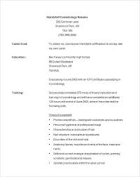 Cosmetology Resumes Template