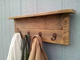 wall mounted coat rack with hangers