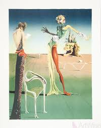 salvador dali femme a tete de roses woman with head of roses lithograph