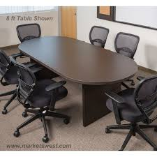 small office conference table. 6 Foot X 3 Racetrack Conference Table Espresso Small Office And Chairs Nap 35esp 1151 D E