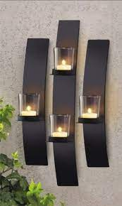 wall mount candle votive holder sconce