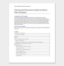 Training Templates For Word Training Plan Template 26 Free Plans Schedules