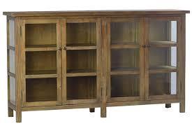 details about 84 dafne sideboard reclaimed solid wood fir antique glass door panels four door