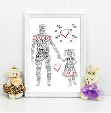 image is loading personalised dad daddy daughter gift a4 print
