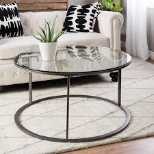 unique top round glass coffee table metal cool decoration black and white contemporary ideas stunning shocking