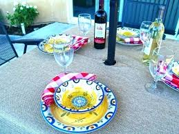 diy fitted vinyl tablecloth medium size of outdoor tablecloth with umbrella hole patio round fitted table