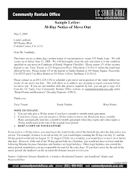30 days notice letter template