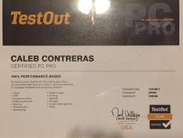 Pc Pro Certification Caleb Contreras Freelance Technician Indpendent Consultant
