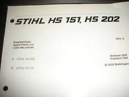 husqvarna 372xp parts manual best of stihl hs 151 hs 202 trimmer ilrated parts list manual