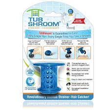 tubshroom revolutionary hair catcher drain protector for tub drains no more clogs blue com