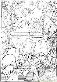 Small Picture Sonic The Hedgehog Coloring Page 10 Coloring Page Free Sonic X