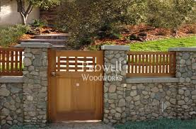 Small Picture Wood and Stone gate by Charles Prowell Craftsman Fence Ideas