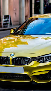 Iphone Wallpaper Yellow Bmw Car Stopped ...