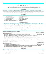 choose service manager resume examples