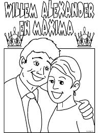 Kleurplaat Koninklijk Huwelijk Willem Alexander Maxima