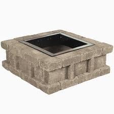 fire pit blocks home depot new titan block 81 in round fire pit kit