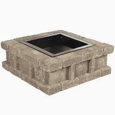 fire pit blocks home depot new titan block 81 in round fire pit kit in river