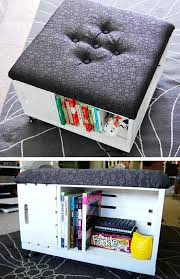 living room diy ideas ottoman with storage pic for living room decor on a budget