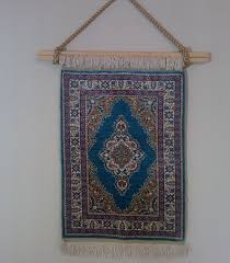 Hanging Rugs Hanging Fringed Rug On Wall