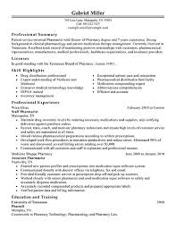 Pharmacist Resume Sample Resume Sample