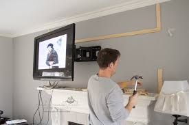 wall mounting the tv