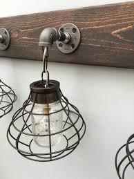 3 mason jar vanity light fixture with shade aftcra throughout mason jar light fixtures