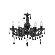 marie therese 5 light acrylic black chandelier