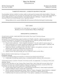 Marketing Assistant Job Description For Resume Marketing Resume Objective Resume Badak 2