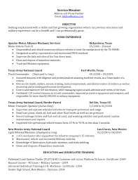 Mechanic Resume In The Army Sales Mechanic Lewesmr
