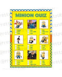 deable me minions picture quiz game
