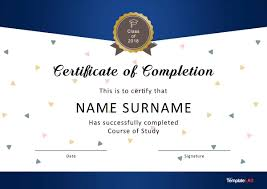 Certificate Of Participation Templates 40 Fantastic Certificate Of Completion Templates Word