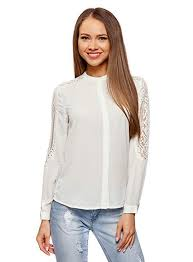 <b>oodji</b> Collection Womens Relaxed-Fit <b>Blouse</b> with <b>Lace</b> Detail #<b>tops</b> ...