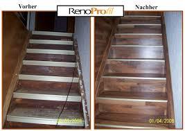 Wenn der belag einer alten betontreppe bereits ausgetreten ist und unschöne laufstraßen die treppe deutlich sichtbar zieren, ist. Treppen Mit Laminat Treppen Verkleidung Leicht Gemacht Mit Renoprofil