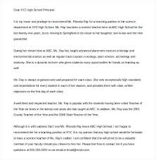 Template For Letters Of Recommendation Leadership Letter Of