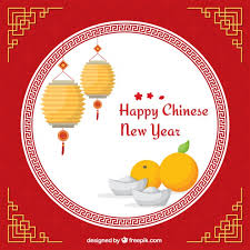 Chinese New Year Card Happy Chinese New Year Card Vector Free Download